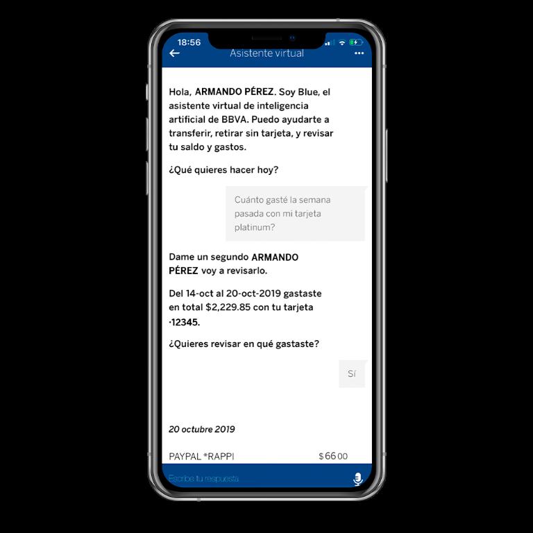 Cuatro soluciones financieras de Blue, el asistente virtual de BBVA