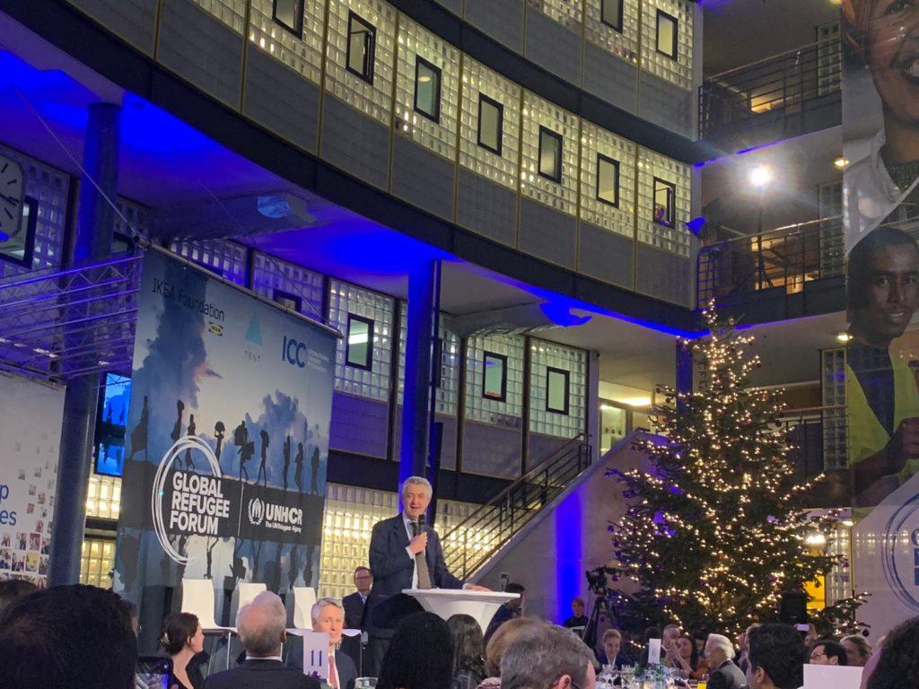 Filippo Grandi, Alto Comisionado de Acnur en el Global Refugee Forum