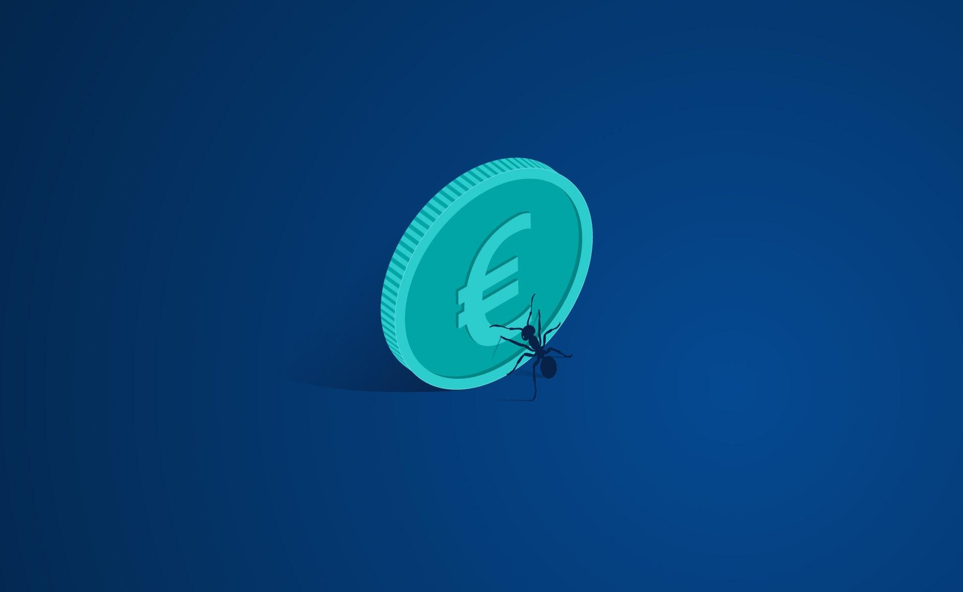 hormiga-gastos-moneda-dinero