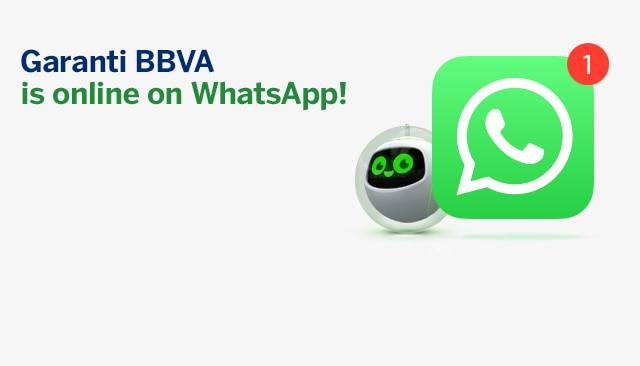 Garanti BBVA - servicio WhatsApp