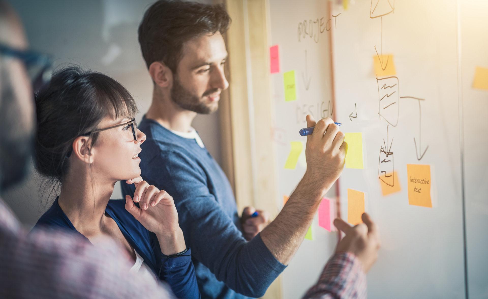 empleados- agile-post-it trabajadores