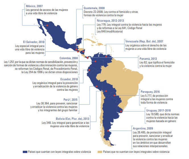 Cartina Fisica America Latina.America Latina Sigue Avanzando En Igualdad De Genero Y Autonomia De Las Mujeres