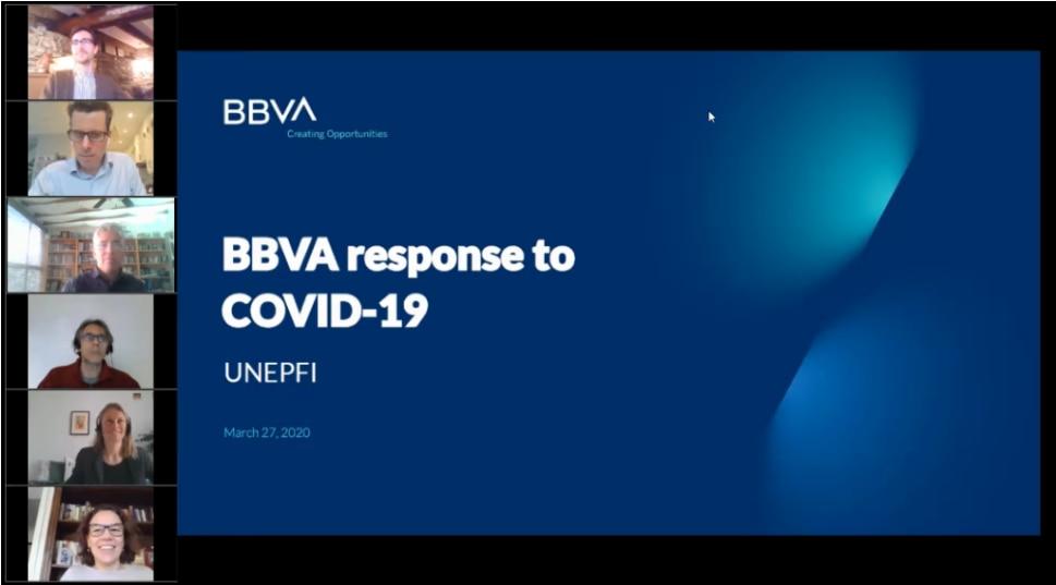 webinar COVID19 UNEP FI BBVA Lidia del Pozo