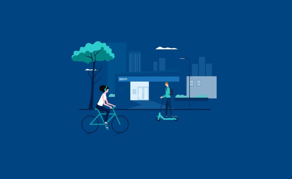 ciudades-infografía-mundo-city-gente-vehiculos-contaminacion-sostenibilidad-transporte-bicicletas-c02-ambiente-calles-patinete