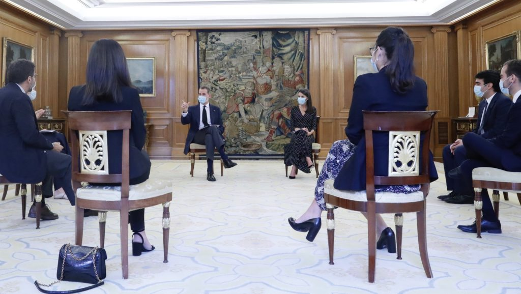 BBVA Momentum entrepreneurs meet with the King and Queen of Spain to share their solutions for the crisis