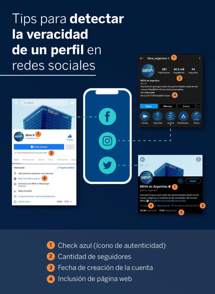 Tips para identificar perfiles oficiales en redes sociales