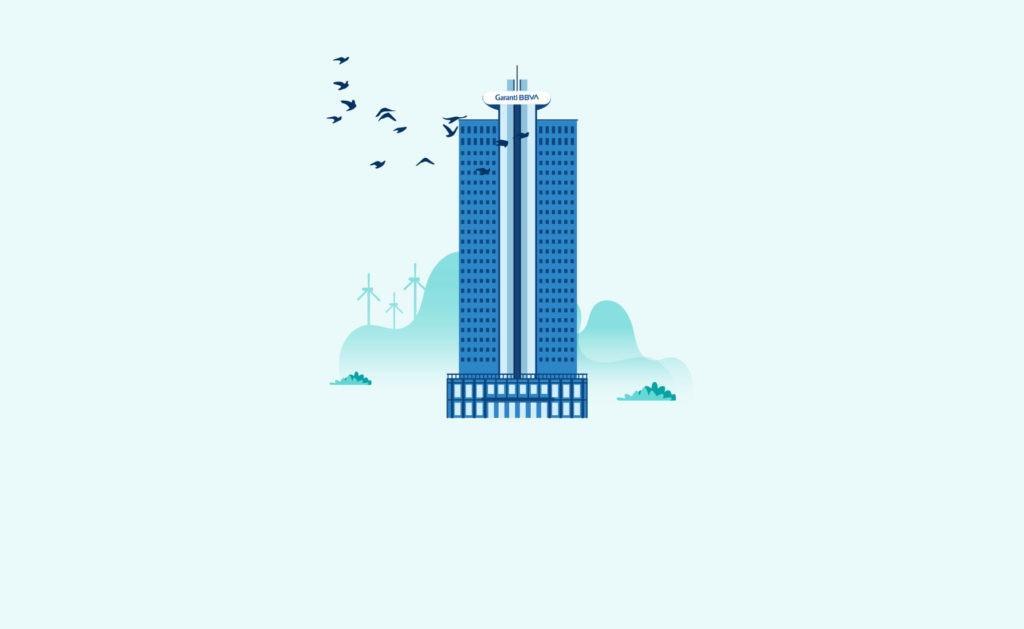 BBVA-Garanti-Inversion-Sostenible-ilustracion-sede-torre-Turquía