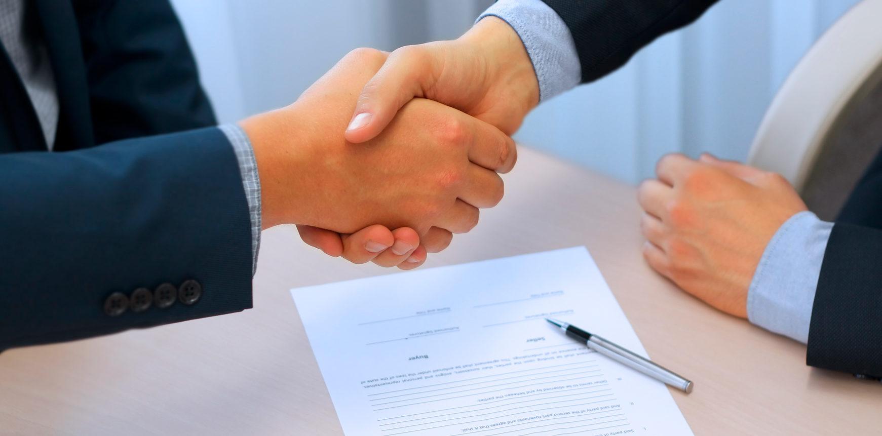 Firma de un acuerdo o tratado