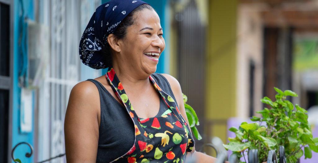 Fotografía de emprendedora colombiana FMBBVA