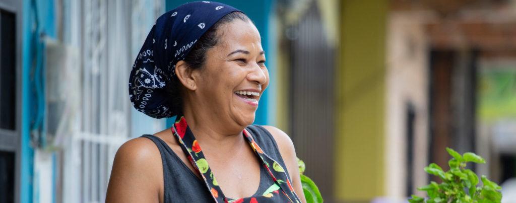 Emprendedora colombiana FMBBVA