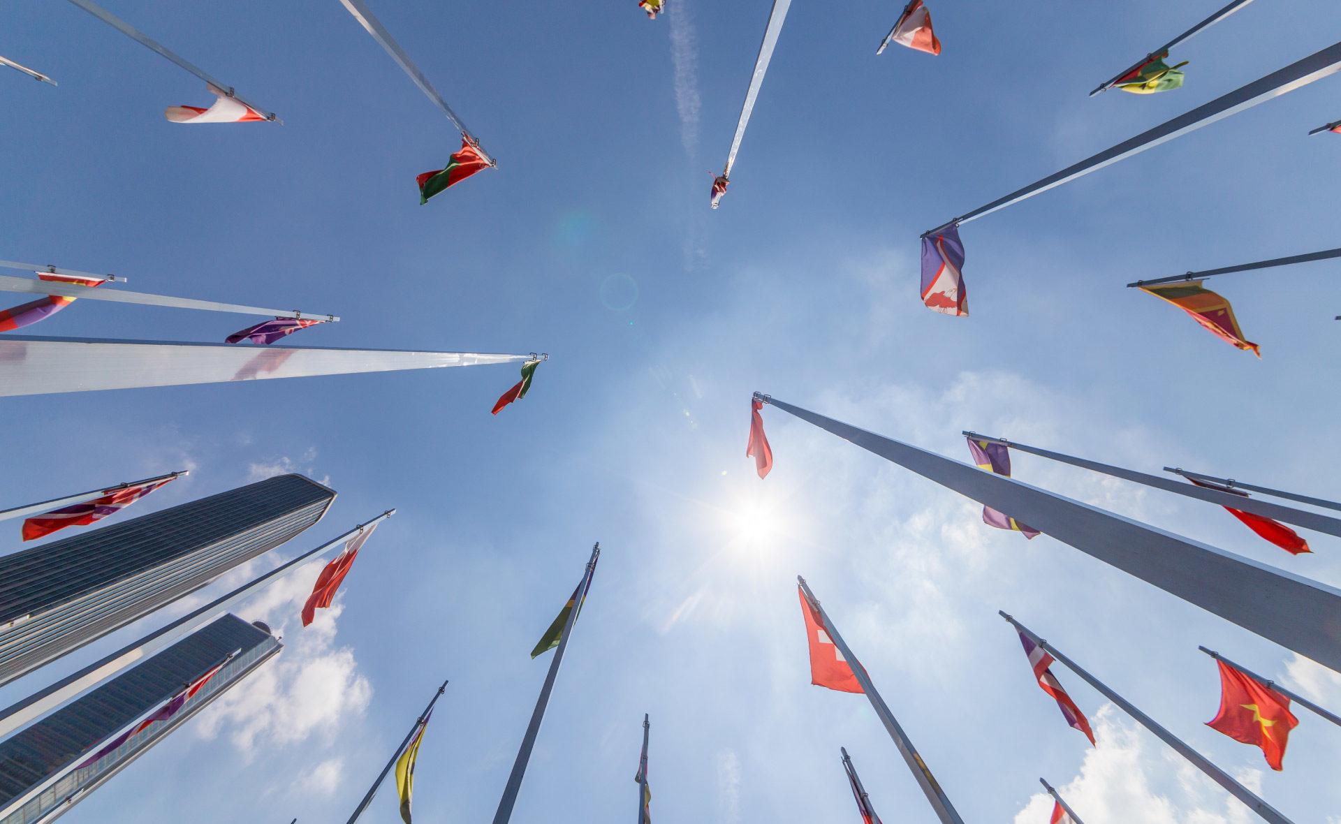 Naciones-Unidas-UE-líderes-países-banderas-unión-