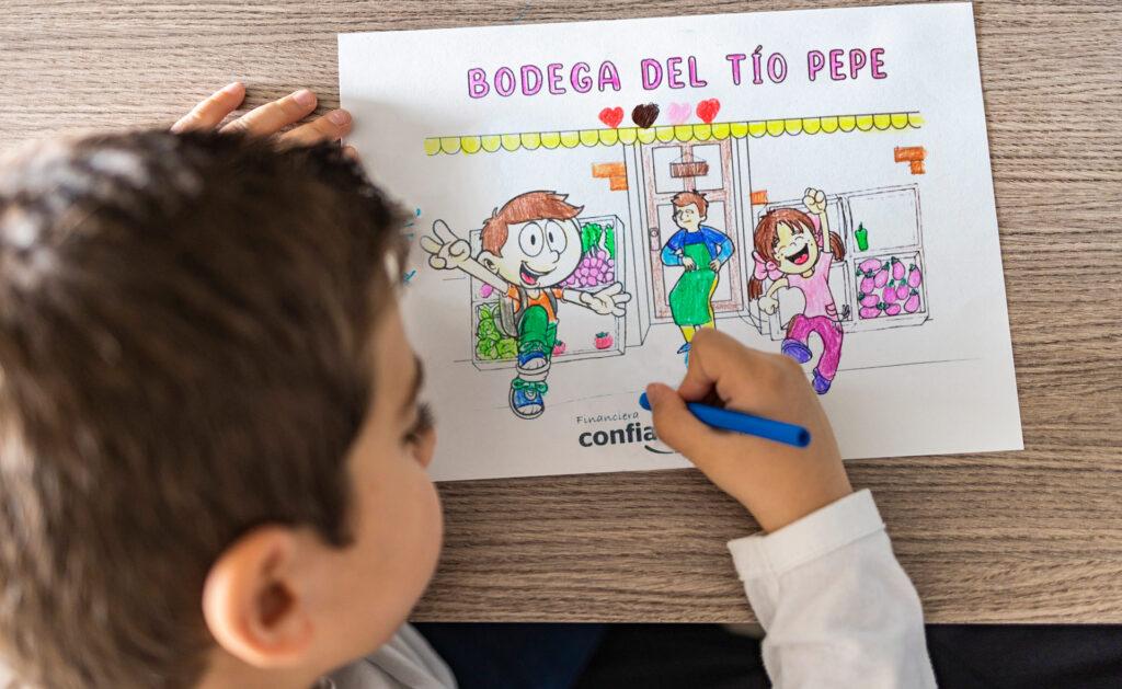 BBVA-cuentacuentos-dibujos-infancia-niños-educación-FMBBVA-Perú