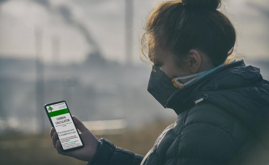 calculadoras_Carbono-huella-sostenible-cuidado-medioambiente-gases-contaminacio