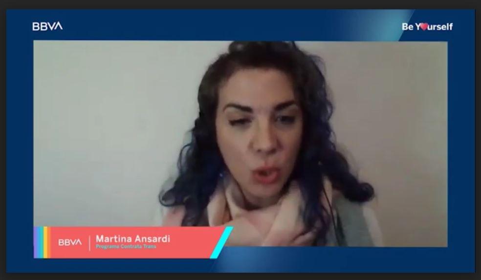 Martina Ansardi, coordinadora y capacitadora del programa Contratá Trans