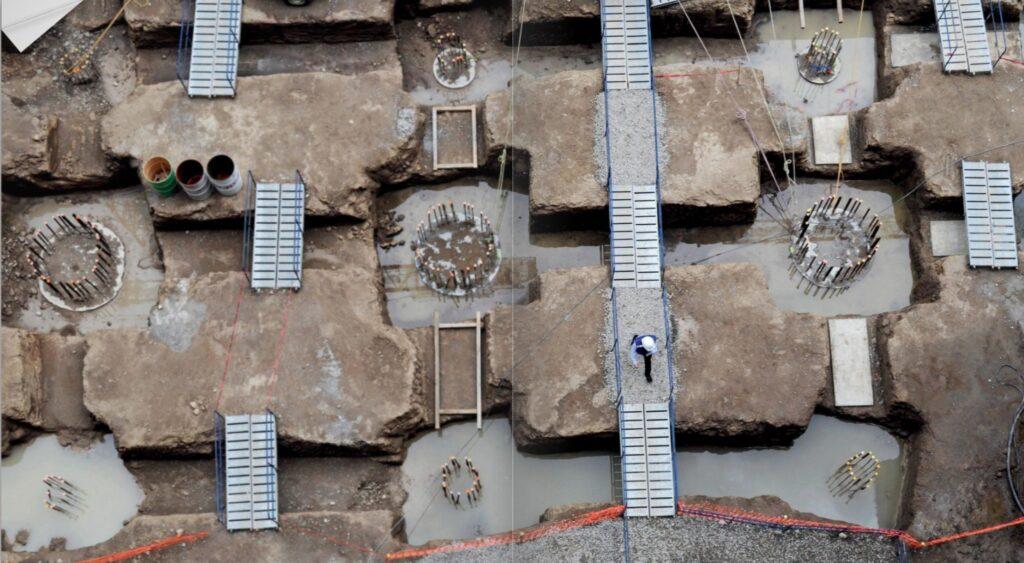 Cimentación de la Torre BBVA México