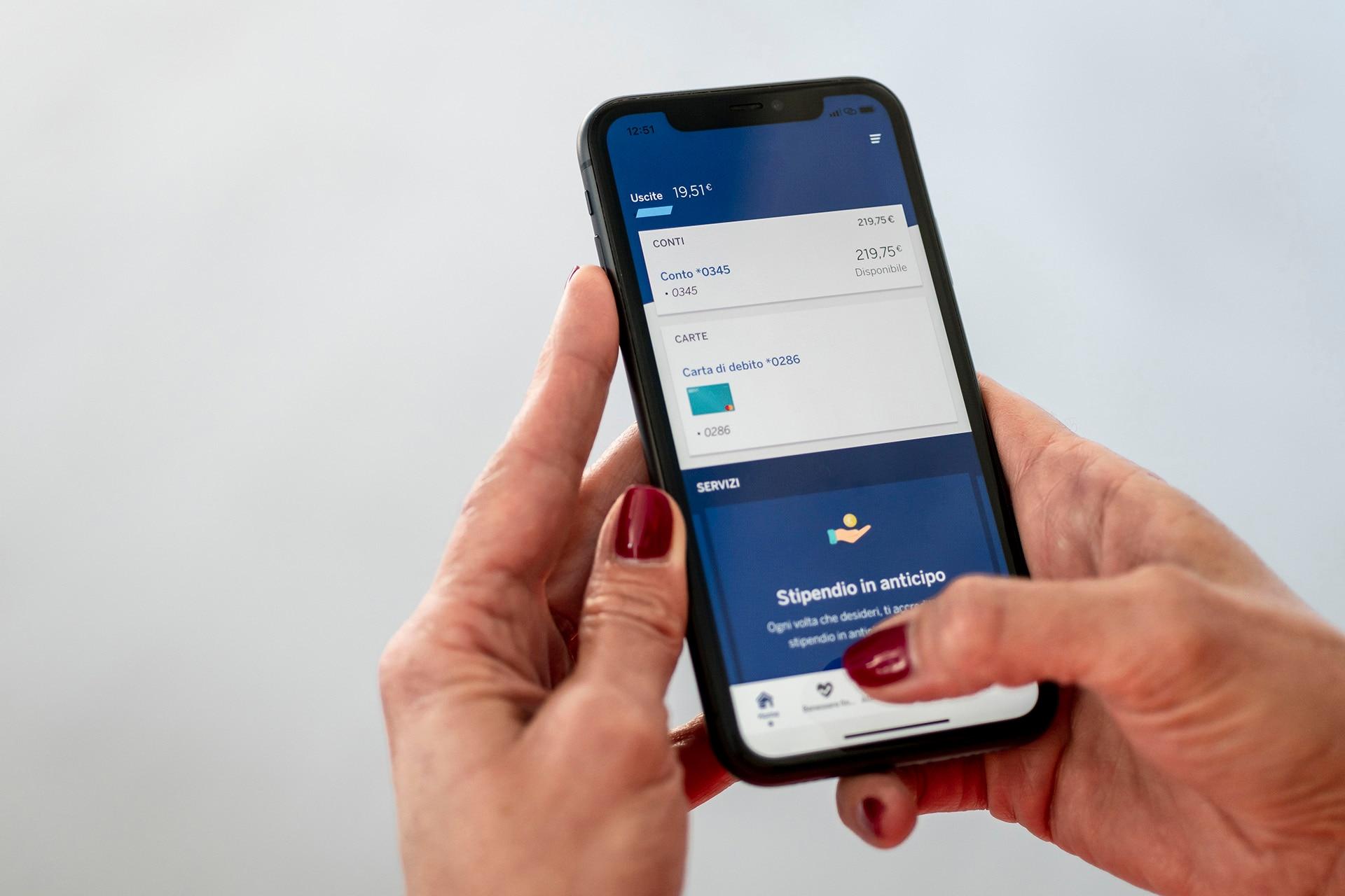 Detalle de la 'app' de BBVA en Italia