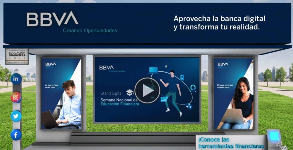 Stand virtual de BBVA México en la SNEF 2021