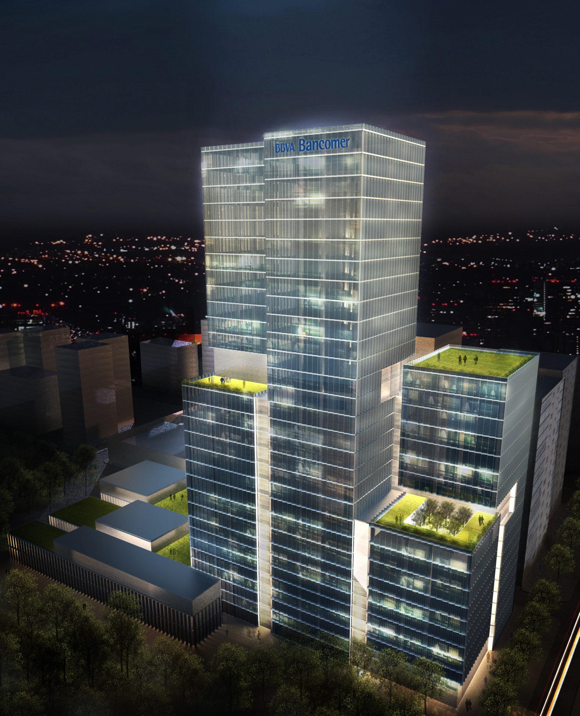 bbva bancomer operating center in the parques polanco complex designed by legorreta + legorreta