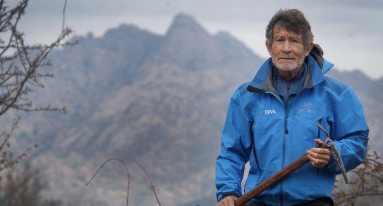 Fotografía Carlos Soria durante una expedición