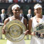 Garbiñe Muguruza junto a Serena Williams en Wimbledon