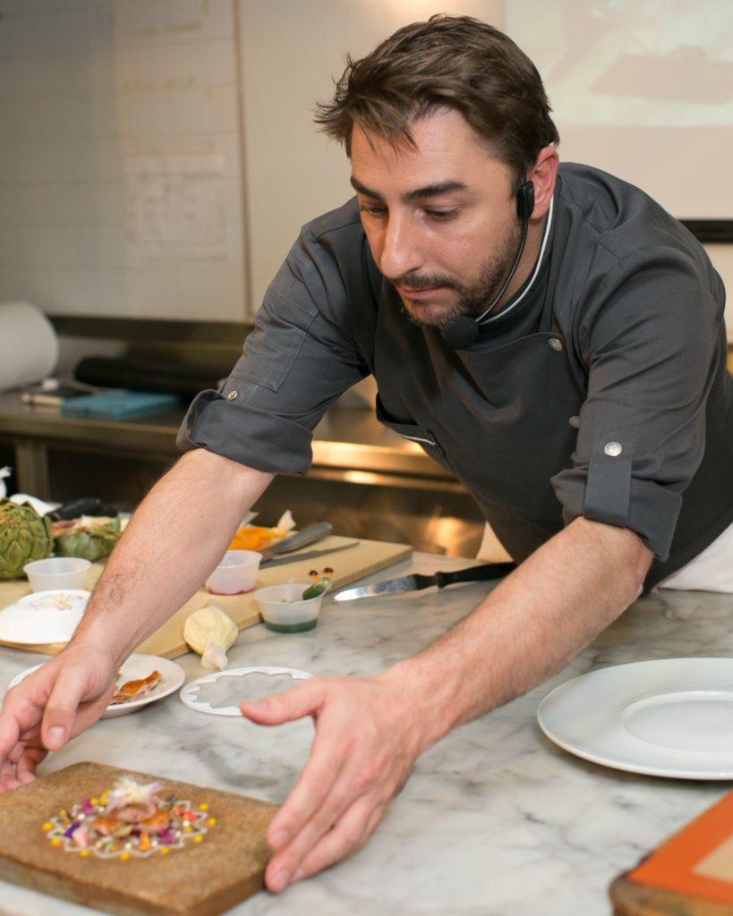 Picture of Jordi Roca cooking in New York