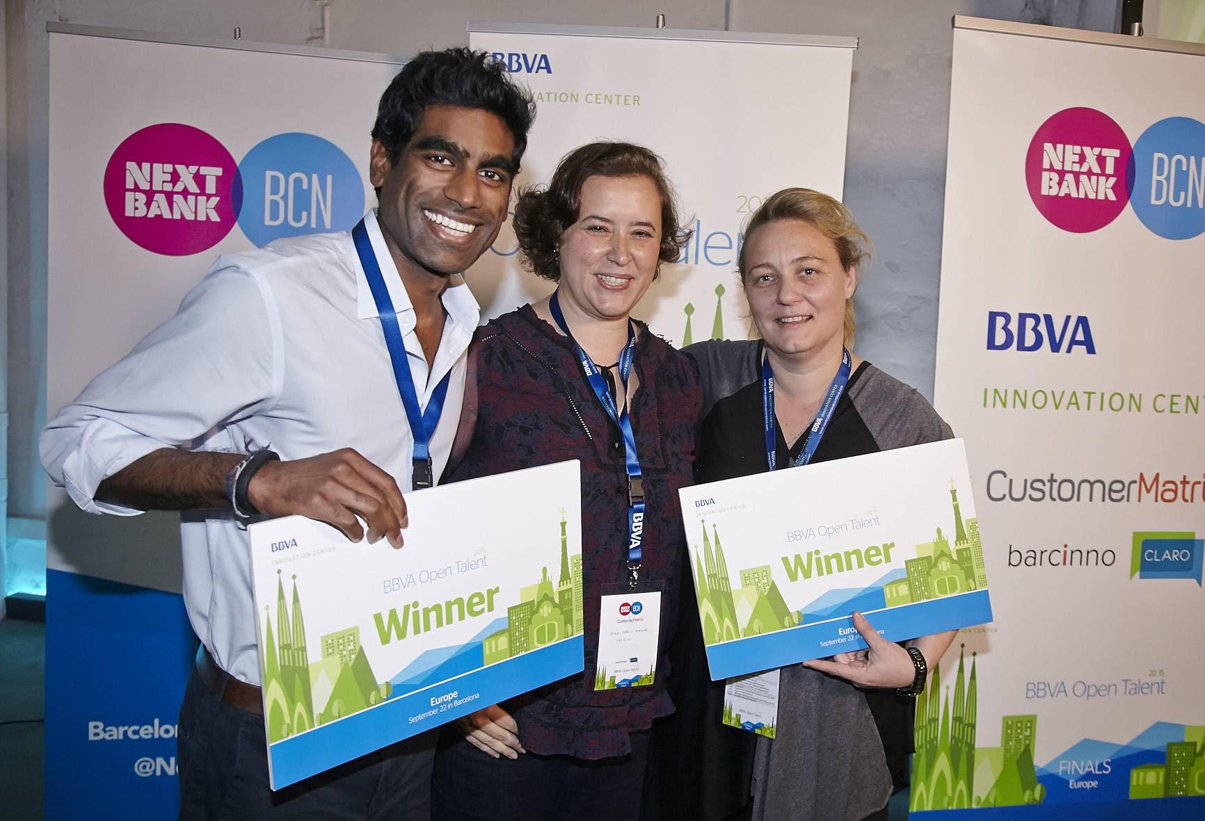 Picture of Everledger and Origin Markets winners BBVA Open Talent Europe 2015