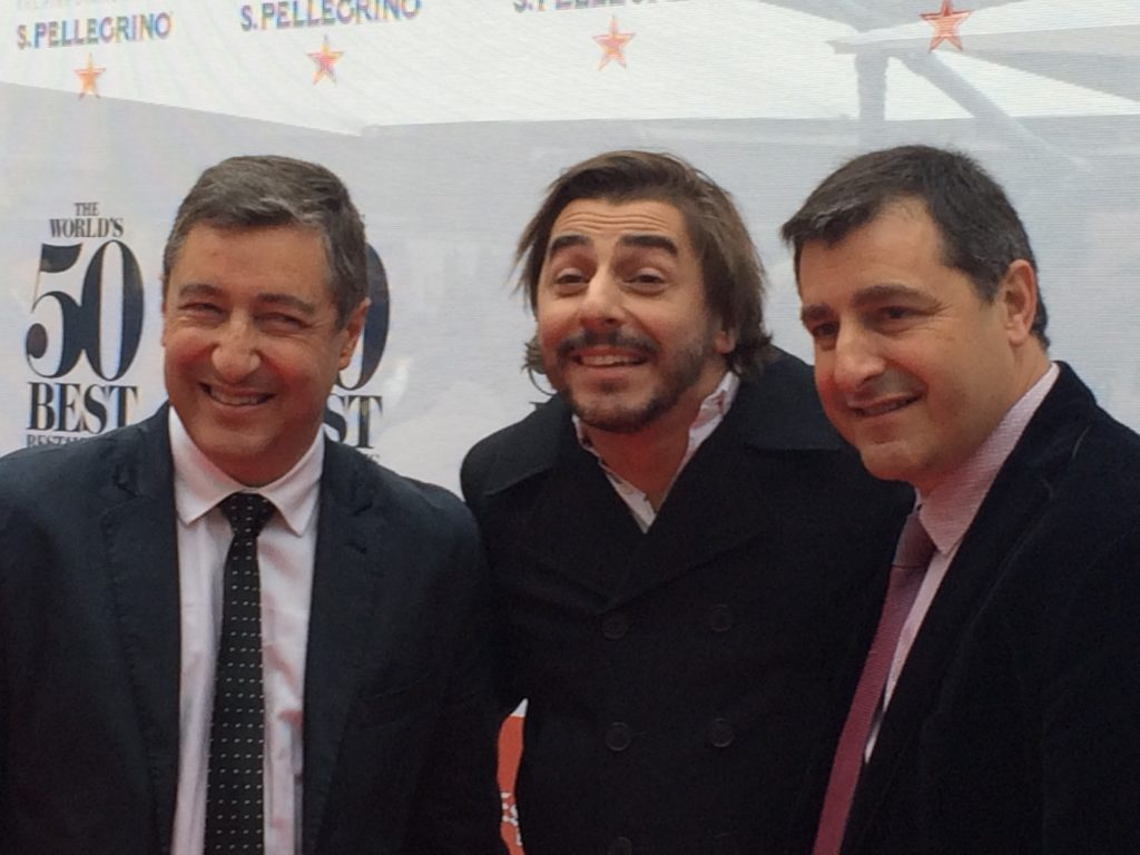 Picture of The Roca brothers in the previous Gala of The World 's 50 Best Restaurants at the Guildhall Theatre ( London)