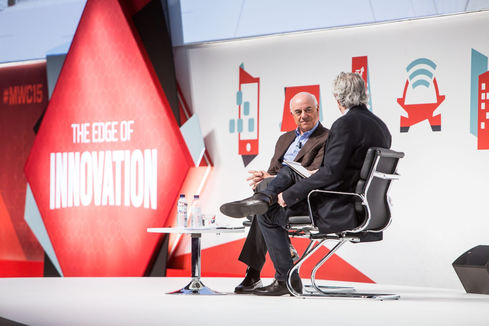 Picture of Francisco Gonzalez at the Mobile World Congress -BBVA