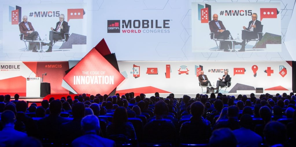 Picture of the Mobile World Congress with BBVA Chairman Francisco Gonzalez