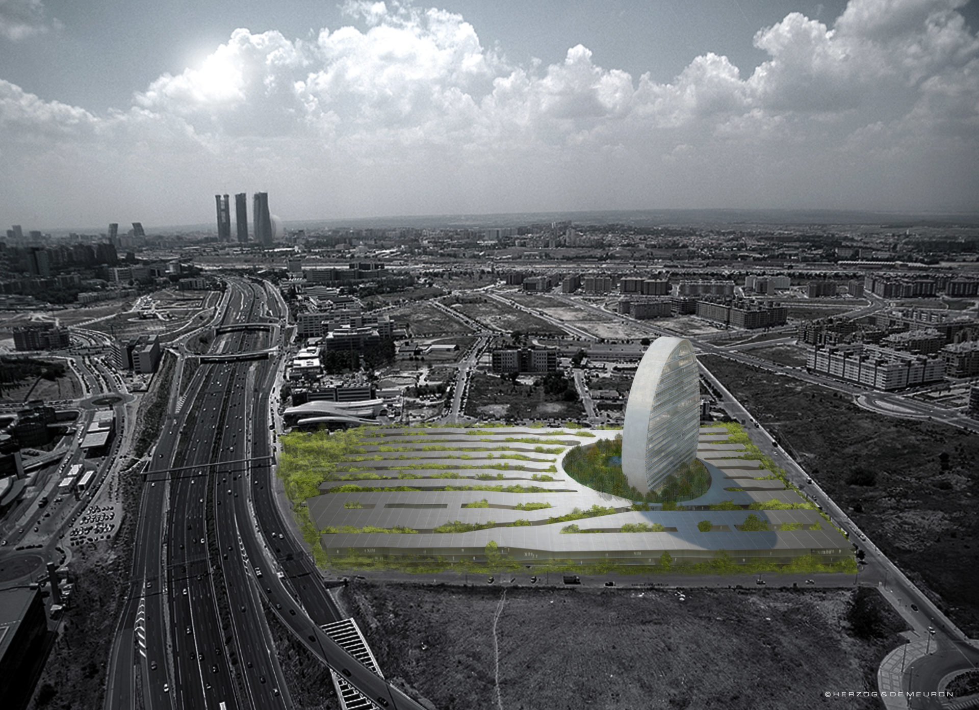 Paronamic view of the BBVA´s new headquarters