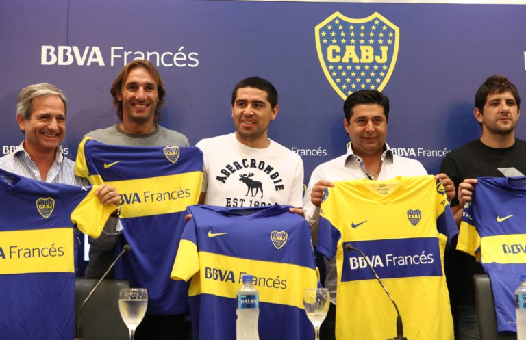 Presentation of the agreement between BBVA Francés and Boca Juniors