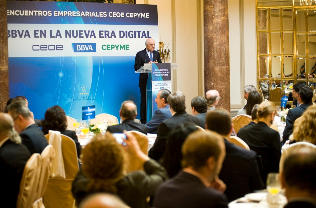 Picture Francisco González at the business meetings organized by CEOE BBVA