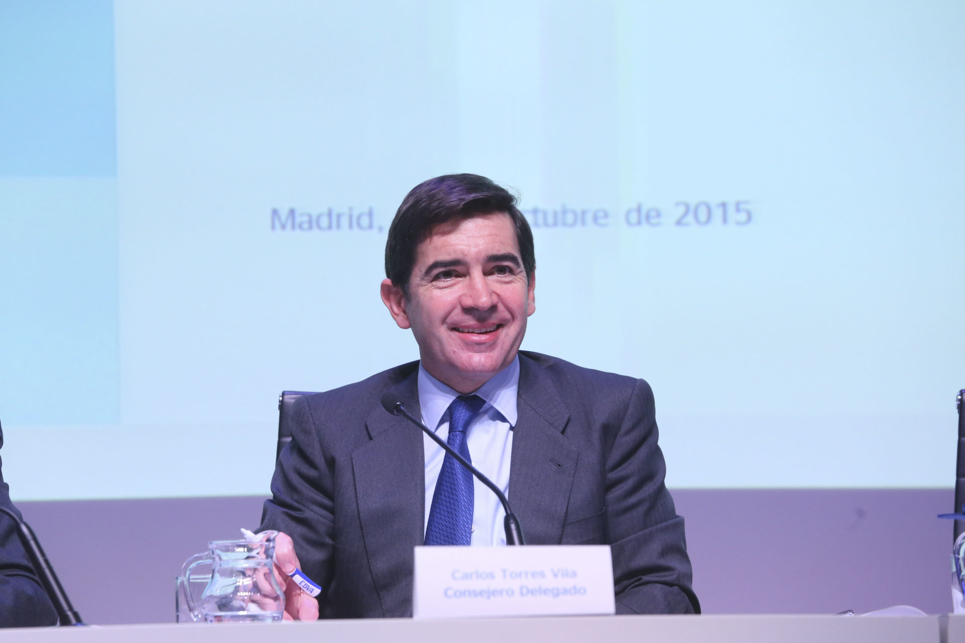 Picture of Carlos Torres at the 3Q15 Results BBVA