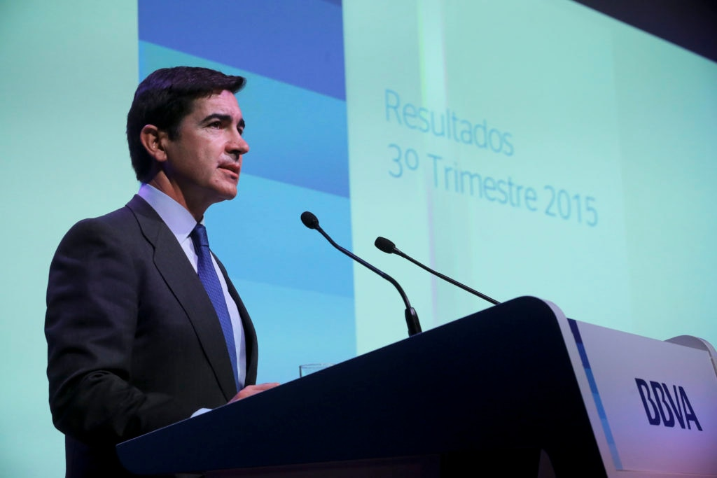 Picture of Carlos Torres Vila BBVA COO 3Q15 Results