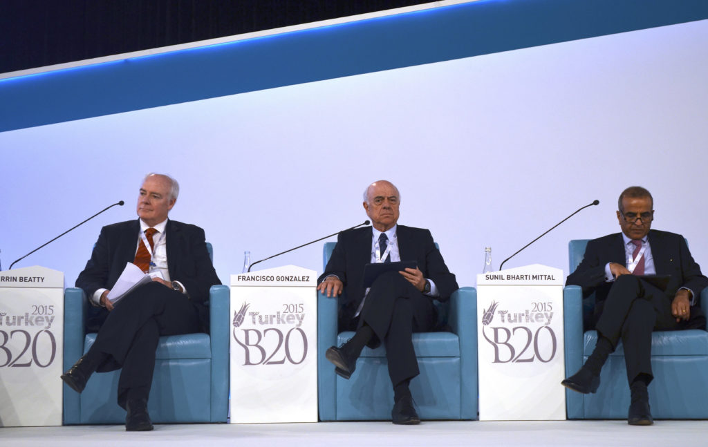 Picture of Francisco González during his intervention at B20