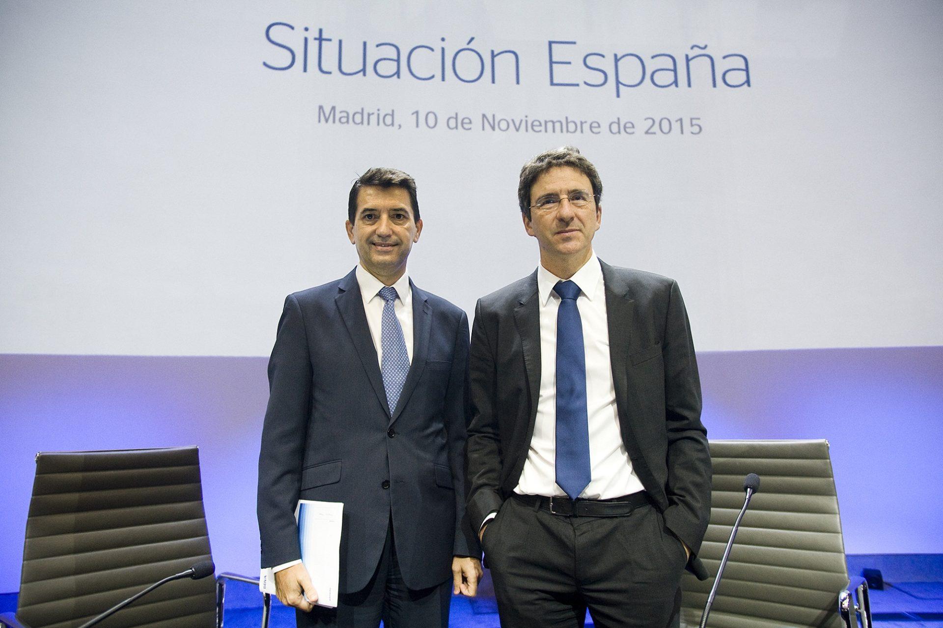 Rafael Domenech and Jorge Sicilia Spain economic outlook presentation