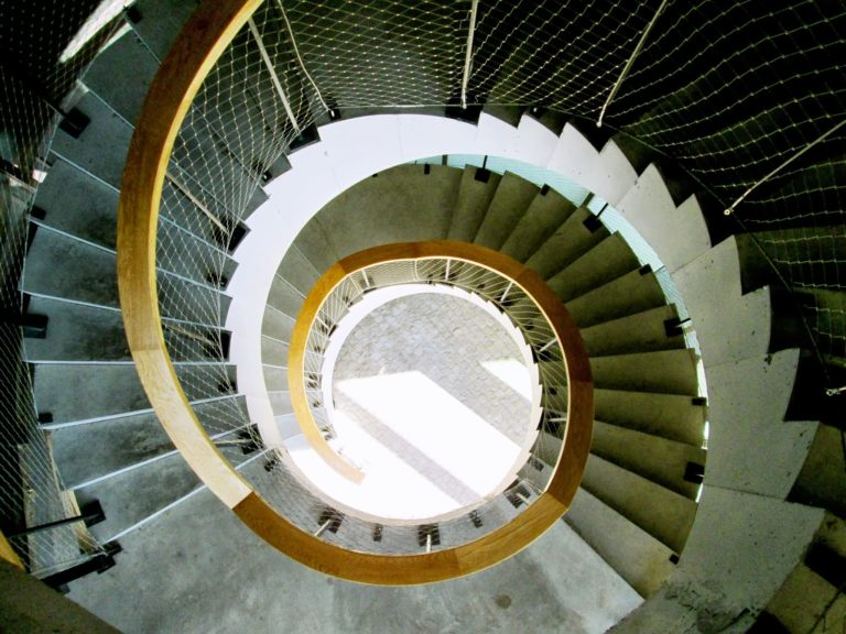 Picture of one of the helical staircases of Ciudad BBVA ©Carlos Benítez-Donoso