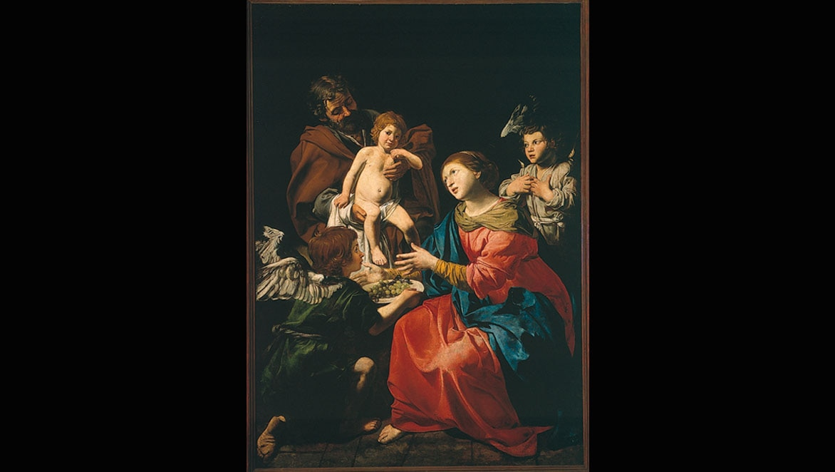 Holy Family of Valentin de Boulogne from BBVA Collection