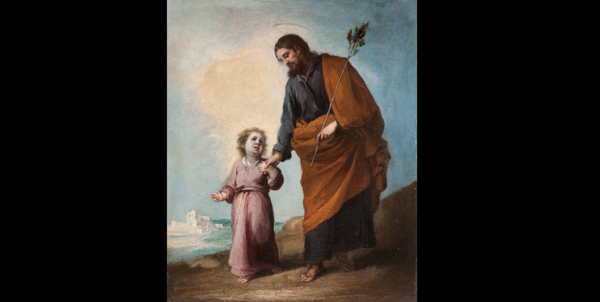 St Joseph with the Child Jesus of Bartolomé Esteban Murillo from BBVA Collection