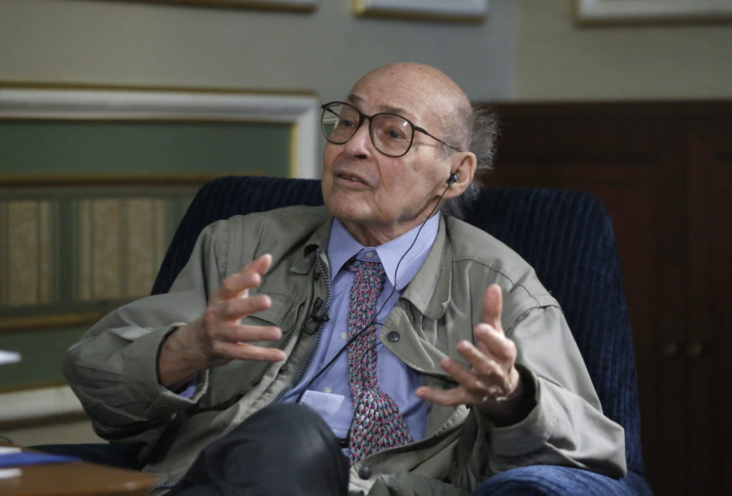Picture of Marvin Minsky awarded by the BBVA Foundation