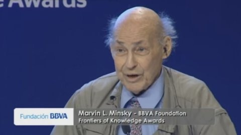 Thumbnail video Marvin Minsky awarded by the BBVA Foundation