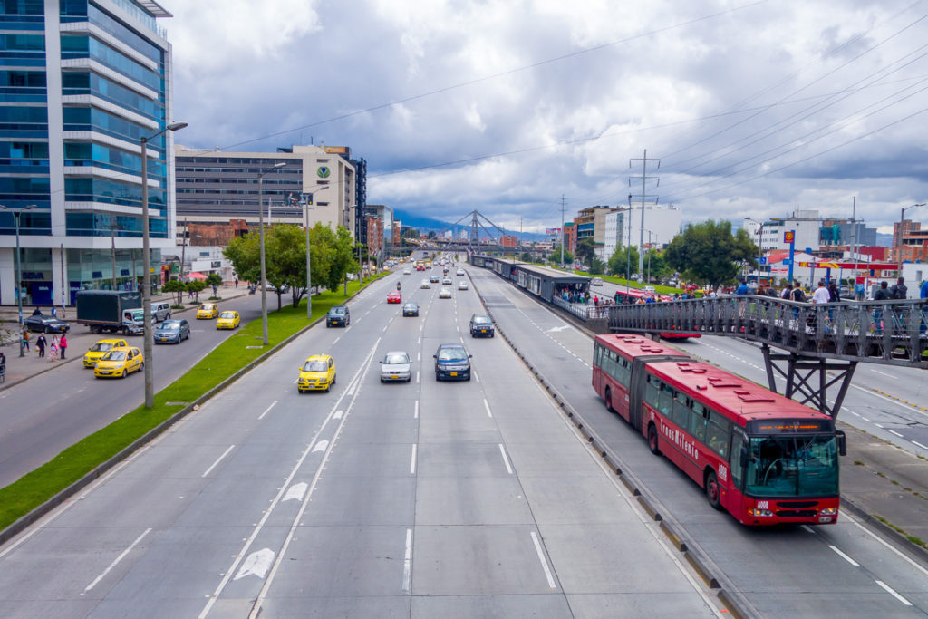 Picture of Transmilenio Bogota colombia mass public transport