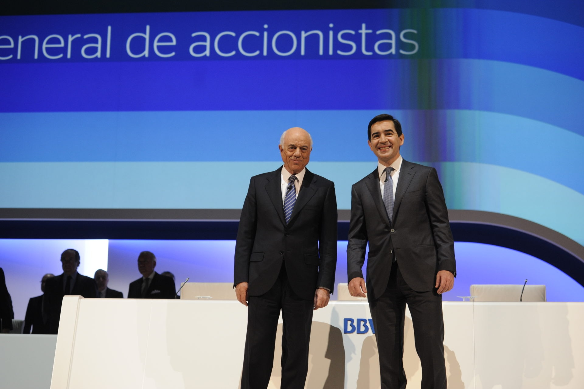 Francisco González. Carlos Torres Vila. Annual General Meeting 2016
