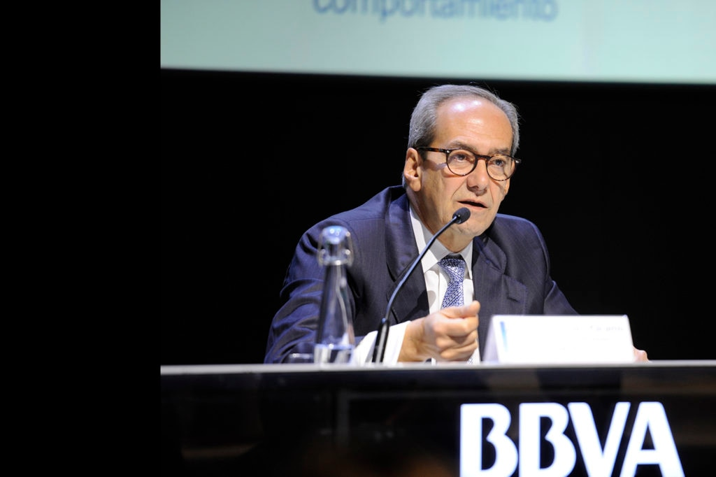 José Manuel González-Páramo BBVA executive director during his presentation