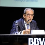 José Manuel González-Páramo BBVA executive director during his presentation