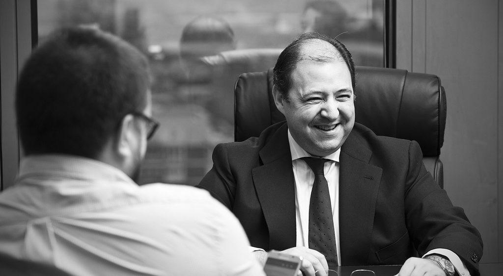 Antonio Béjar, during the interview