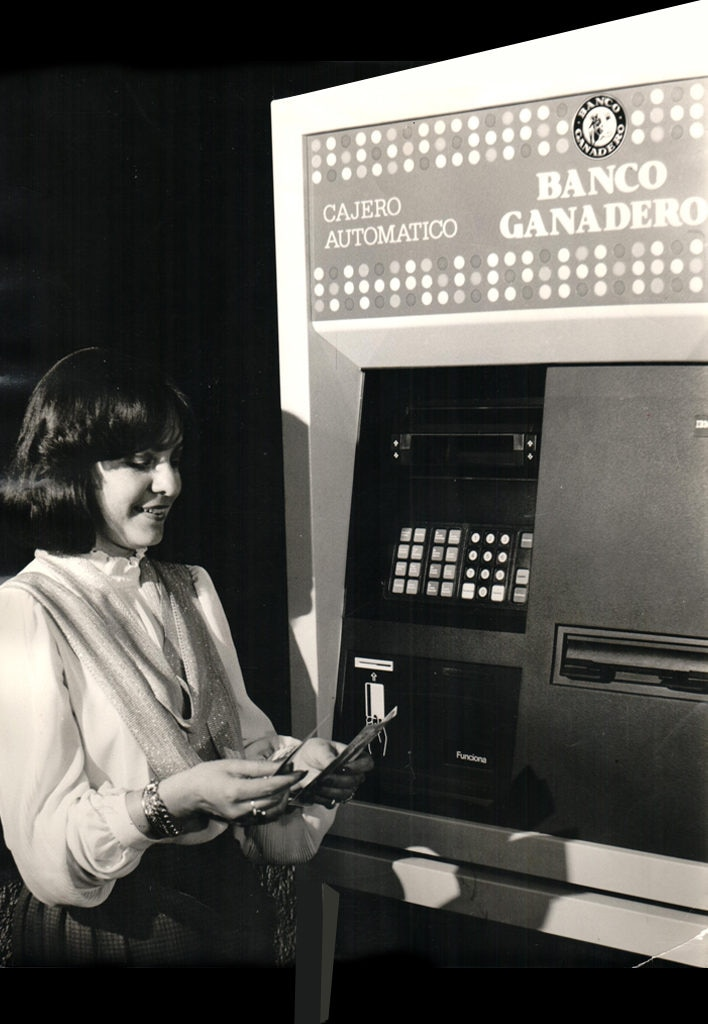 Image of BBVA Colombia Banco Ganadero's ATM 1980s