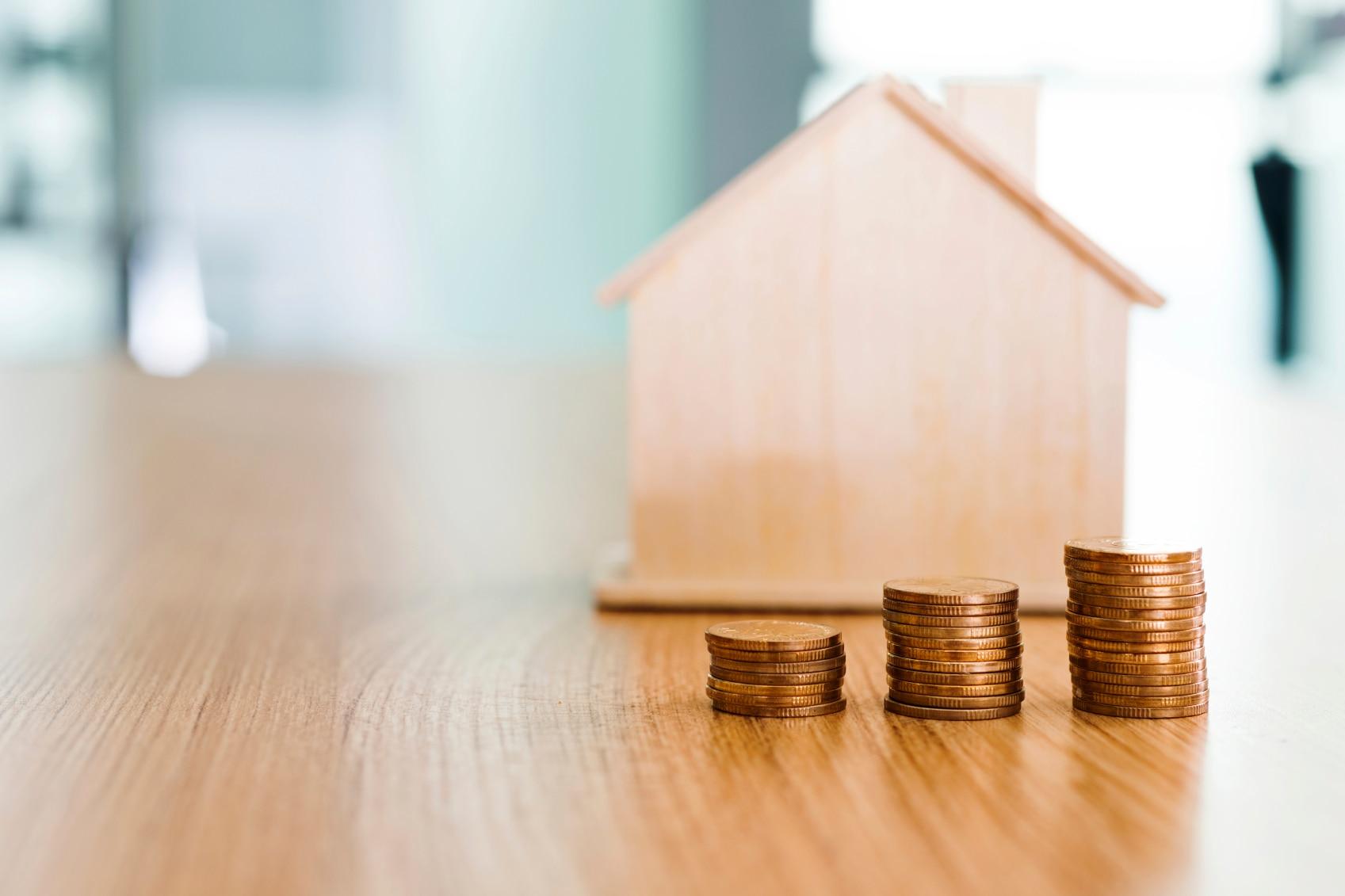 House coins vivienda hipoteca recurso bbva moneda credito hipotecario