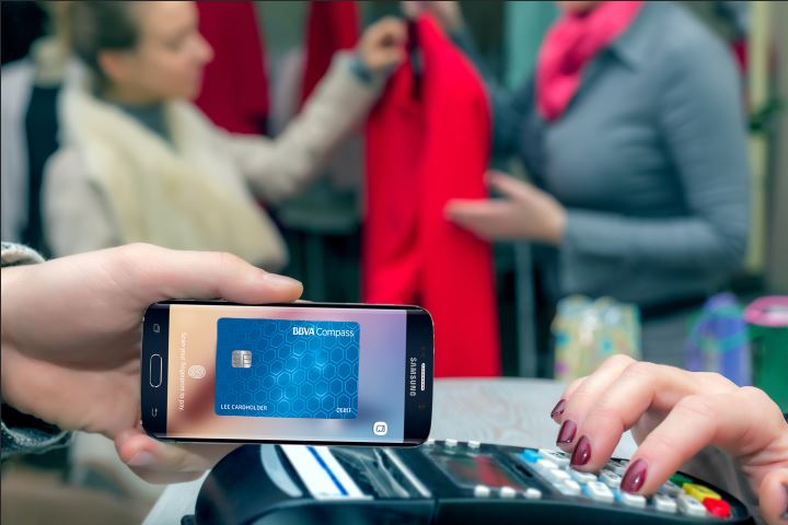 Picture of Android Pay and Samsung Pay let BBVA Compass customers pay without using their debit, credit or prepaid cards