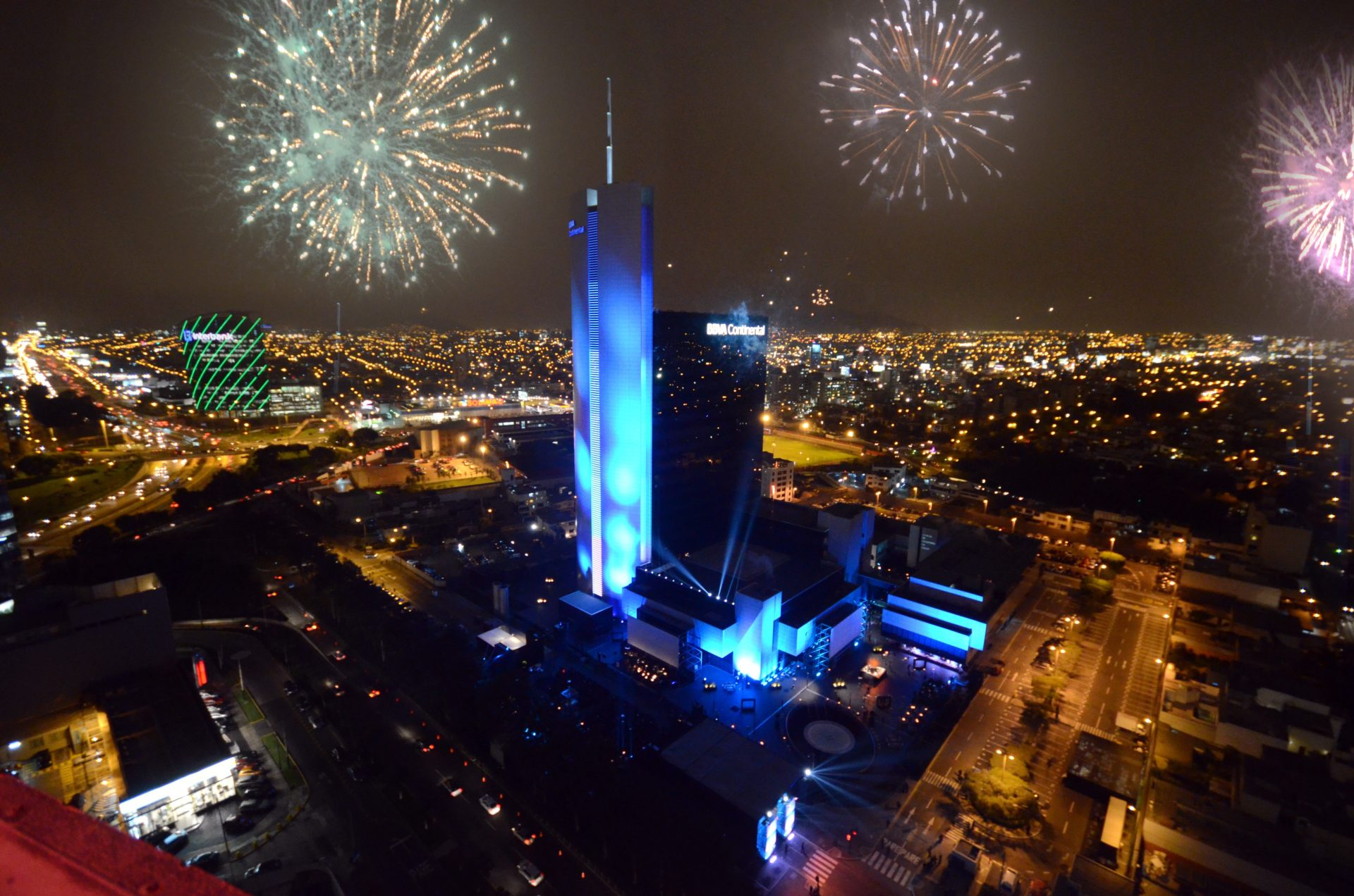 Picture of inauguration of the headquarters Lima BBVA Continental